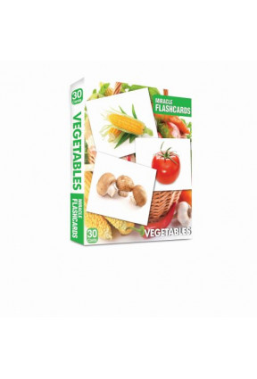 Miracle Flashcards - Vegetables Box 30 Cards