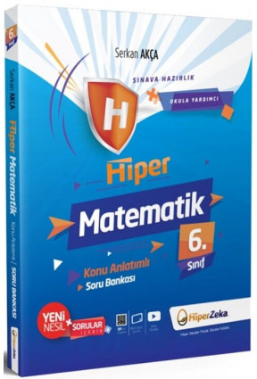 Hiper Zeka 6. Sınıf Hiper Matematik Konu Anlatımlı Soru Bankası