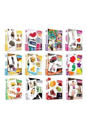 İngilizce Flashcard Seti 12 Kutu 465 Kart